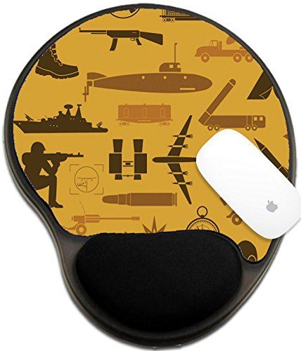 Luxlady Mousepad wrist protected Mouse Pads/Mat with wrist support design IMAGE ID: 44520153 Military background Seamless pattern Military elements armored vehicles Vector (About Elite Vehicle)