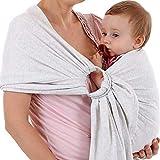 """Baby Tragetuch 100% bequem mit gratis""""My First Baby"""" E-Book - ideales Geschenk für Neugeborene, weiche Baumwolle, leicht, für Babys bis zu 9 kg"""