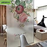 LANGUGU Flower Pattern Glass N
