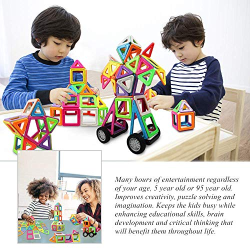 Innoo Tech Magnetic Building Blocks, 76+1 Pieces(Large Size) Magnetic Shapes Kids Magnetic Building Tiles Gift Construction Toys Educational Games for Boys Girls