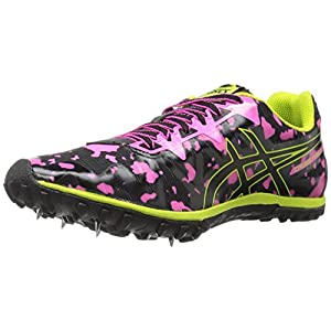 ASICS Women's Freak 2 Cross-Country Running Shoe, Hot Pink/Black/Neon Lime, 9 M US