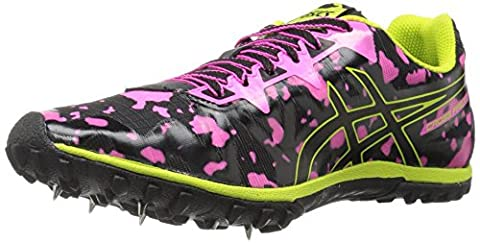 ASICS Women's Freak 2 Cross-Country Running Shoe, Hot Pink/Black/Neon Lime, 7 M US (Neon Pink Track Spikes)