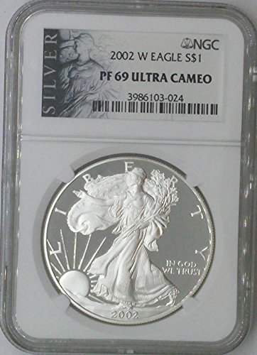 2002 W American Eagle $1 PF69 NGC PF