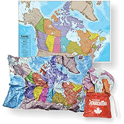 Waypoint Geographic ScrunchMap - Foldable Water Resistant Lightweight Map with Easy Stow & Go Pouch 24