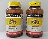 Cheap Mason Natural Co Q-10, Vitamin E and Fish Oil, 60 Softgels (Pack of 2)