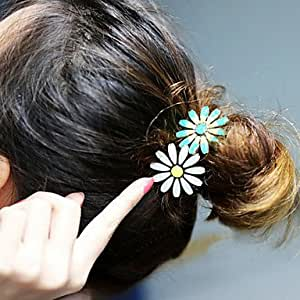 Estilo coreano de alta calidad de Camelia lazo del pelo - Green