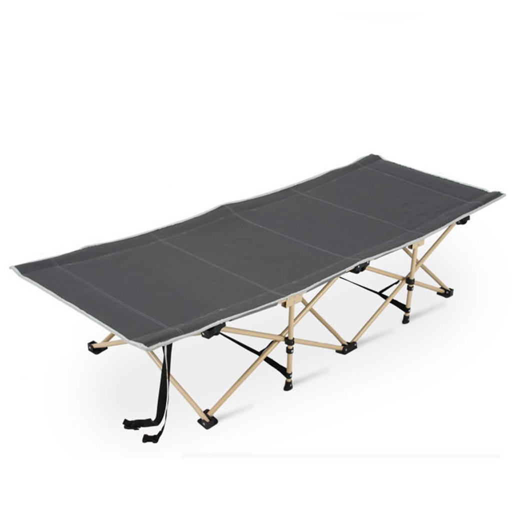 Stühle Portable Klappbett Einfache Mittagspause Liege Bett Krankenhaus begleitendes Bett Sport Einzelbett Kann 500KG Tragen (Farbe : grau, Größe : 190  67  35cm)