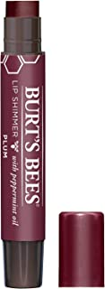 product image for Burt's Bees 00% Natural Moisturizing Lip Shimmer, Tube Plum 1 Count