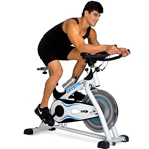 Crystal SJ-32411Home Use Exercise Bike Spin Bike Spinning Bike Fitness Equipment White