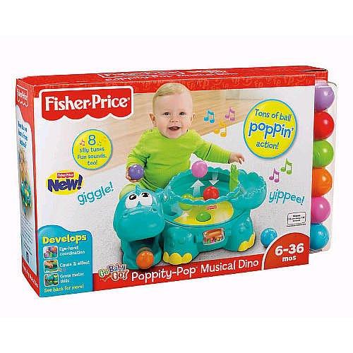 Fisherprice Go Baby Go Poppity Pop Musical Dino