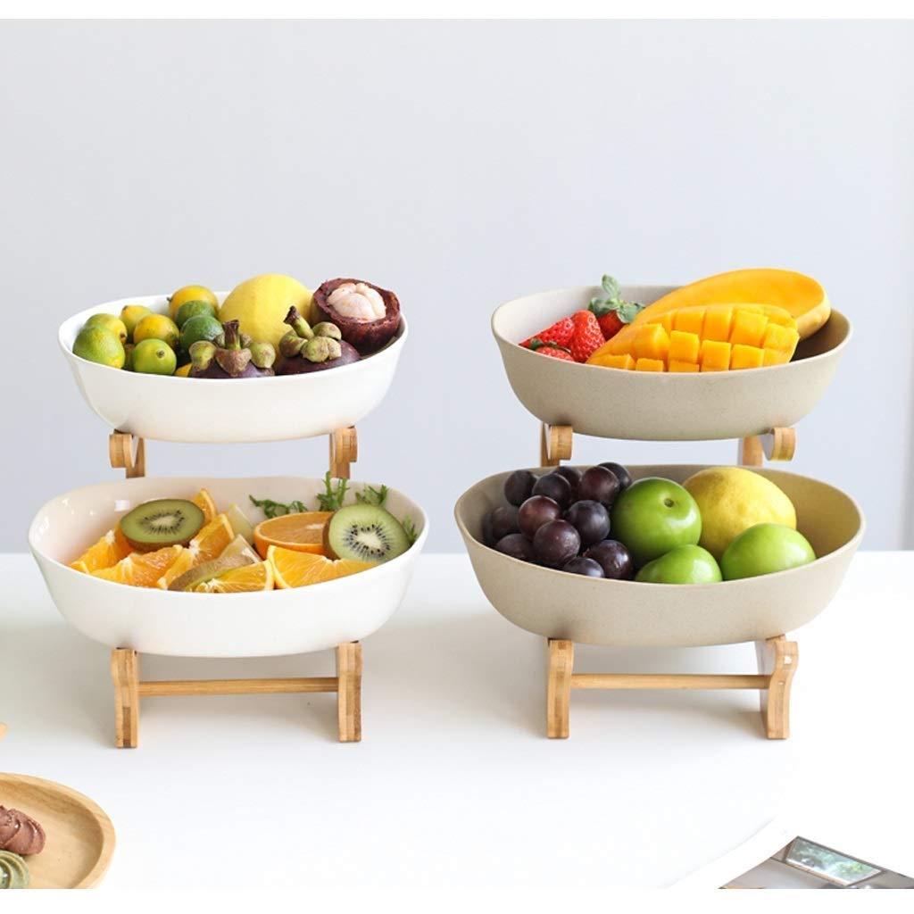 Assiette De Fruits En C/éramique Japonaise Double Corbeille De Fruits D/écoration De La Maison Salon Table De Table D/écoration Assiette De Fruits Corbeil Assiette de fruits bol de fruits Bol De Fruits