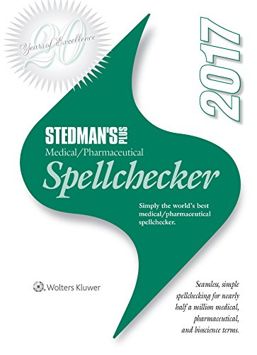 Stedman's Plus 2017 Medical/Pharmaceutical Spellchecker (Standard) by WOLTERS KLUWER HEALTH