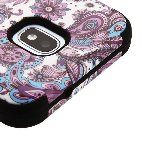 For Samsung Galaxy J3 2018, Amp Prime 3, Express Prime 3, J3 Star, J3 Achieve, J3V J3 V 3rd Gen Case Phonelicious Military Grade Shockproof Hybrid Rugged Accessory Phone Cover (Paisley)