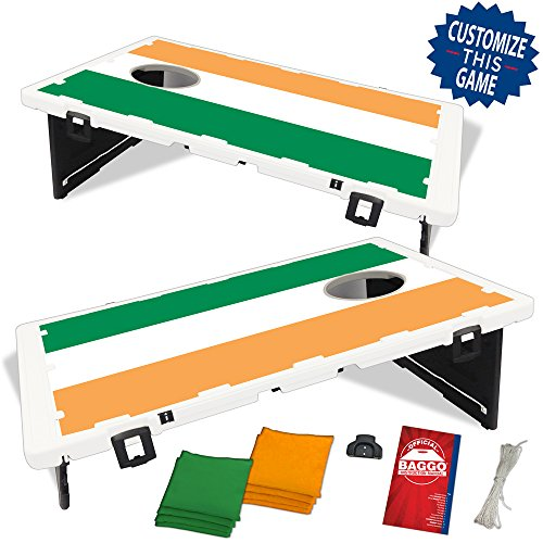 (Baggo Ireland Irish Flag Bean Bag Toss Portable Cornhole Game)
