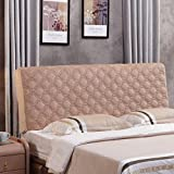 Homyl Dust-proof Stretch Headboard Cover Protector for Bedroom Decoration 200cm - Camel