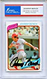 Johnny Bench Autographed Cincinnati Reds Encapsulated Trading Card - JSA Certified Authentic