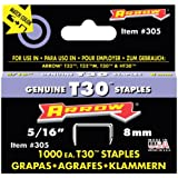 Arrow Fastener 305 Genuine 5/16-Inch Thin Wire Staples for T30 staple gun, HT30 hammer tacker. 1,000-Pack