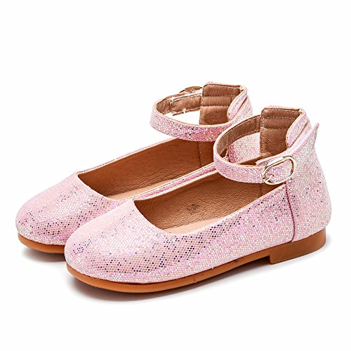 Kardashian Costume Ideas Kim (Baby Girl Party Princess Toddler Bow PU Leather Shoe Children Low Heel Kid Flat Fashion Shoe (Pink 31/13 M US Little)