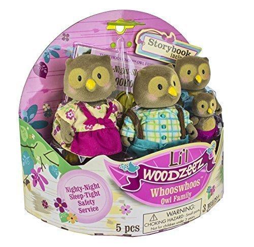 Li'l Woodzeez Whooswhoos Owl Family Nighty Night Sleep Tight Lookout by Battat