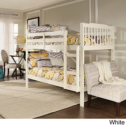 IQ KIDS Simone Twin and Twin Bunk Beds in White - Bunk Bed Top Only