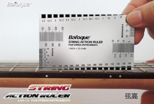 Baroque ストリングアクションルーラー 弦高調整 計測例