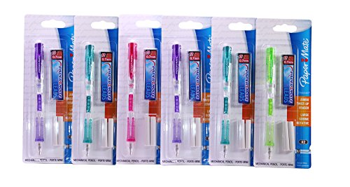 Paper Mate Clearpoint 0.7mm Mechanical Pencil Starter Set (Pack of 6) Colors May Vary