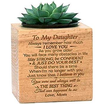 Amazon.com: Maceta grabada para regalo para hija de mamá ...
