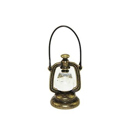 Omiky 112 Skala Miniatur Puppenhaus Zubehör Dekoration Mini öl Lampe Kinder Spielzeug Gold