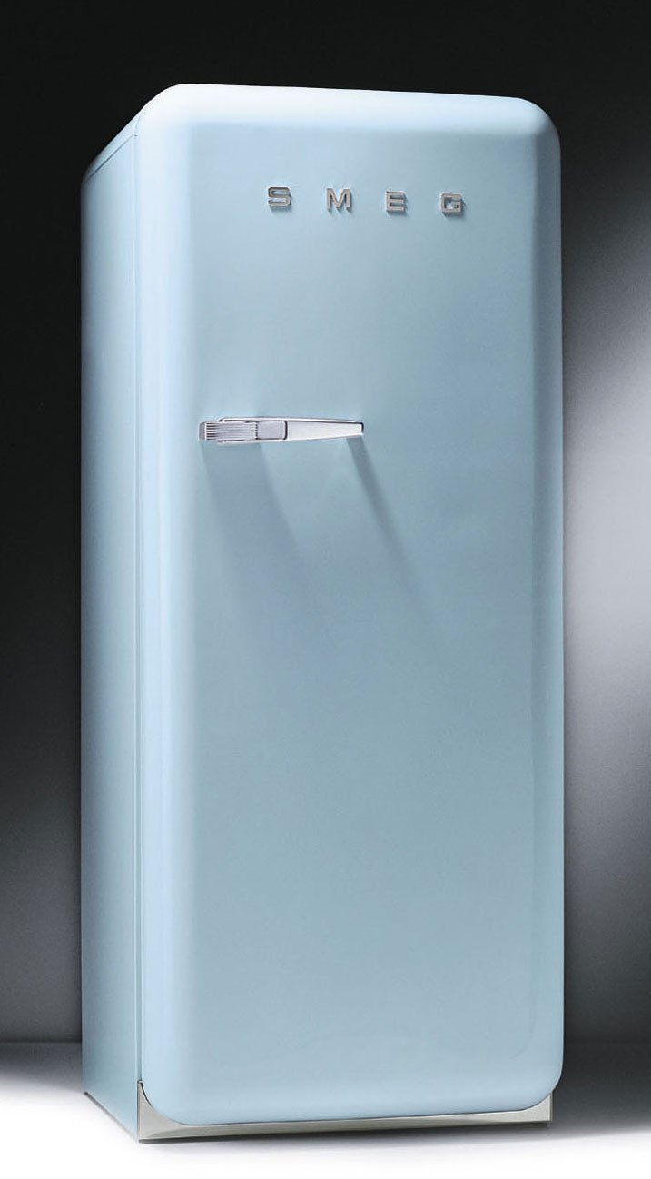 Smeg FAB28UAZ 9.22 cu. ft. 50's Style Refrigerator Antibacterial Interior, Ice Compartment, Adjusta