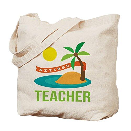 CafePress–jubilado profesor–Gamuza de bolsa de lona bolsa, bolsa de la compra