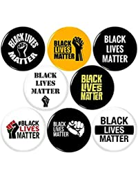 "BLACK LIVES MATTER 8 NEW 1 Inch (25mm) Set of 8 Pinback Buttons Badges Pins 1"" BLM"