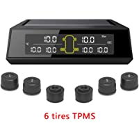Leepesx Car Truck TPMS Tire Pressure Monitoring System Car Wireless Solar Charging Alarm System Voltage Control System…