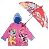 Hasbro Little Girls My Little Pony Slicker and Umbrella Rainwear Set, Age 2-7