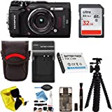Olympus TG-5 Waterproof Digital Camera Black w/ 32GB Memory Card, Spare Battery, Charger, Case -DigitalAndMore PRO Bundle