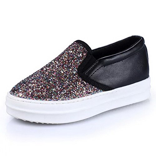 Balamasa Femmes Plate-forme Glitter Pull-on Uréthane Chaussures-or