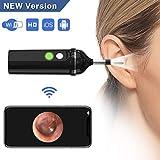 Wireless Ear Otoscope, Digital Ear Scope 720P HD WiFi Ear Inspection Camera Earwax