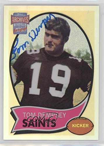 (Tom Dempsey (Football Card) 2001 Topps Archives Reserve - Rookie Reprint Autographs #ARA-TD)