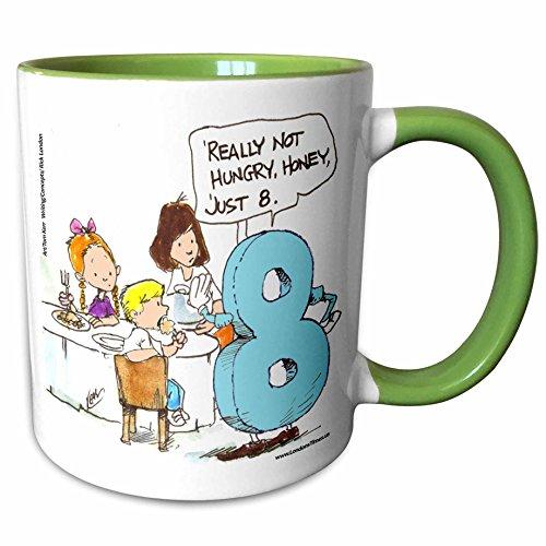 Silly Wordplay (3dRose Londons Times Gen. 2 Silly Wordplay Cartoons - Just Eight - 11oz Two-Tone Green Mug (mug_10728_7))