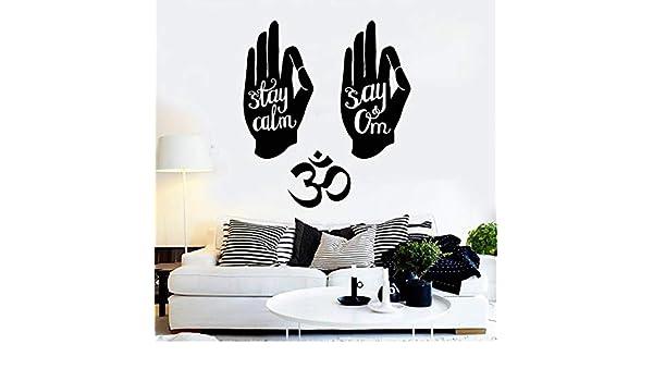 Hinduismo Mano Om Símbolo Cita de yoga hindú Vinilo Tatuajes de ...