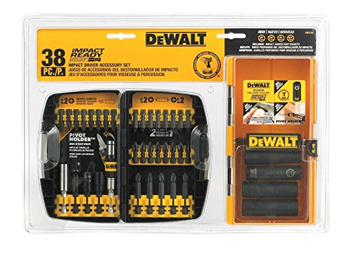 Dewalt Screw 38 Pieces Impact Ready Accessory Set
