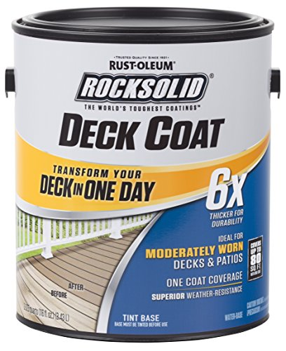 Rust-Oleum 319649 RockSolid 6X Deck Coat, 1 Gallon, Navajo Red