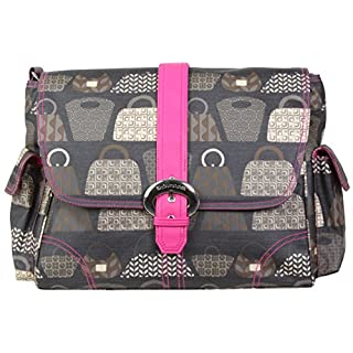 Kalencom Messenger Buckle Diaper Bag, Cassandra Dots