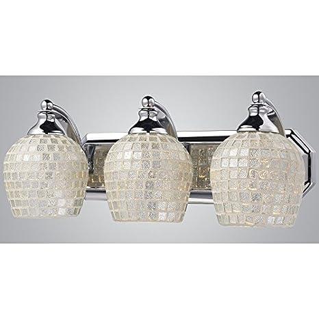 westmore lighting 3 light polished chrome bathroom vanity light