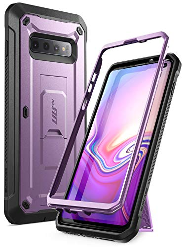 (SUPCASE Unicorn Beetle Pro Series Designed for Samsung Galaxy S10 Case (2019 Release) Full-Body Dual Layer Rugged with Holster & Kickstand Without Built-in Screen Protector (Purple))