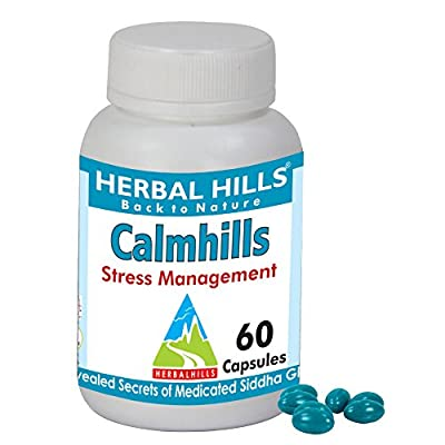 Herbal Hills Calmhills Anxiety & Stress Reduce Supplement 500mg 60 Capsules