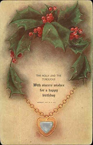 With Sincere Wishes for a Happy Birthday Original Vintage (1910 Postcard)