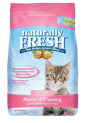 Naturally Fresh Walnut-Based Kitten Training Quick-Clumping Cat Litter