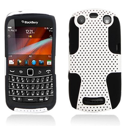 Aimo Wireless BB9370PCPA008 Hybrid Armor Cheeze Case for BlackBerry Curve 9370 - Retail Packaging - ()