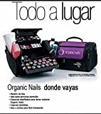 Carrying Case Organic Nails/ Maletin Organic Negro CON Morado- Www.organicnailsu.com