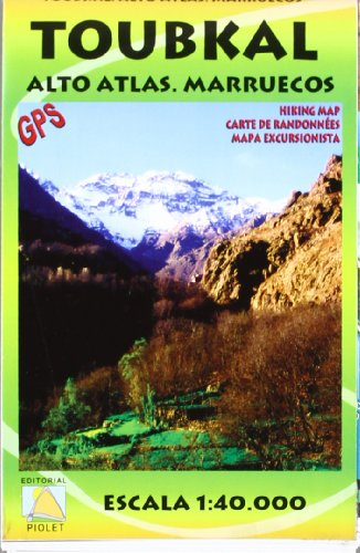 Descargar Libro Toubkal, Alto Atlas, Marruecos. Escala 1:40.000. Mapa Excursionista Plastificado. Editorial Piolet. Vv.aa.